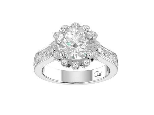 Flower Brilliant-Cut Diamond Ring - RP0136