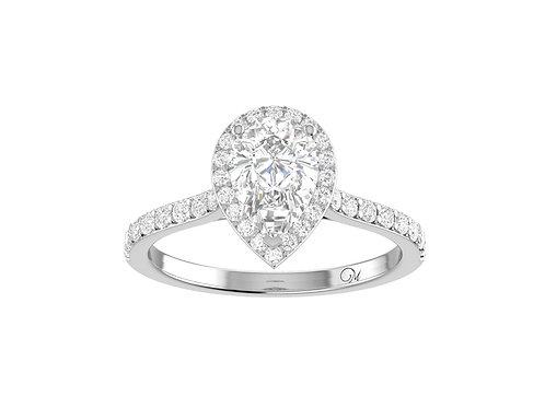 Halo Pear-Cut Diamond Ring - RP2317