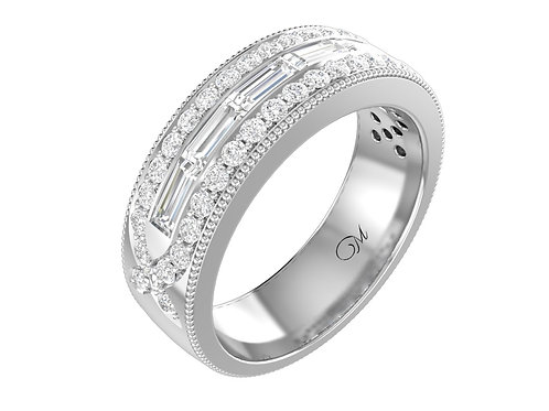 Men's Baguette-Cut DiamondBand - RP0061