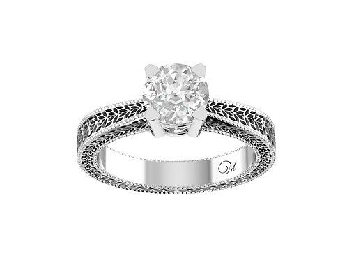 Fancy Texture Brilliant-Cut Diamond Ring - RP0001