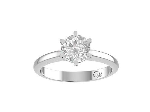 Round Brilliant-Cut Diamond Ring - RP0218