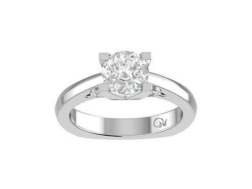 Fancy ShankBrilliant-Cut Diamond Ring - RP0724
