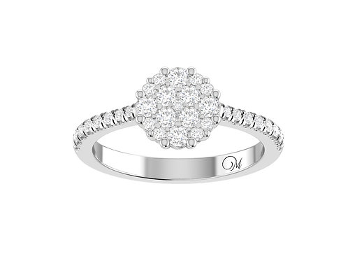 Petite Beautiful Cluster Diamond Ring - RP1323