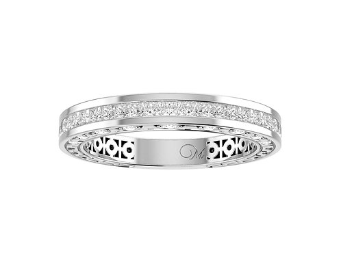 Delicate Princess-Cut Diamond Band - RP0631