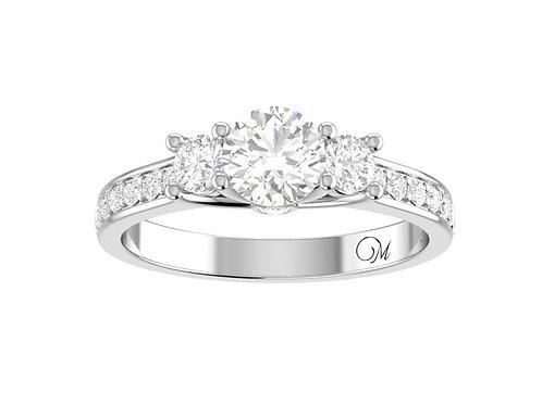 Fancy Three Stone Diamond Ring - RP1524