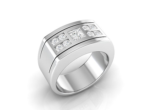 Men's Modern Diamond Band - RP0547