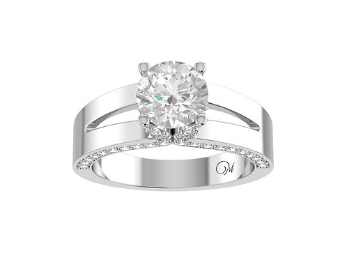 Split Shank Brilliant-Cut Diamond Ring - RP1446