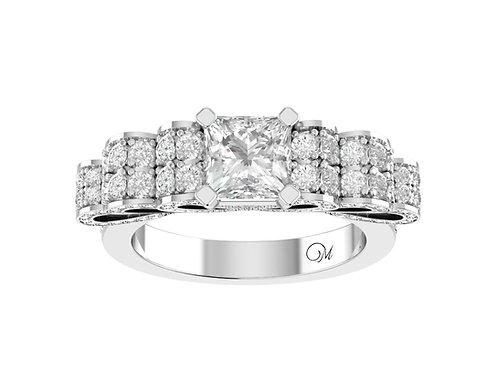 Romance Princess-Cut Diamond Ring - RP0287