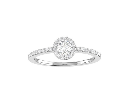 Petite Halo Brilliant-Cut Diamond Ring - RP1362