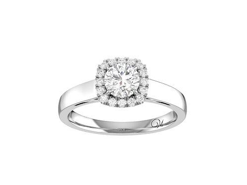 Halo Brilliant-Cut Diamond Ring - RP1527