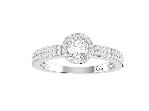 Petite Halo Brilliant-Cut Diamond Ring - RP1348