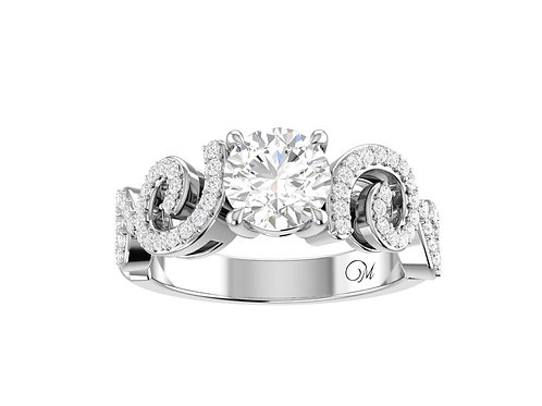 Fancy Brilliant-Cut Diamond Ring - RP1005