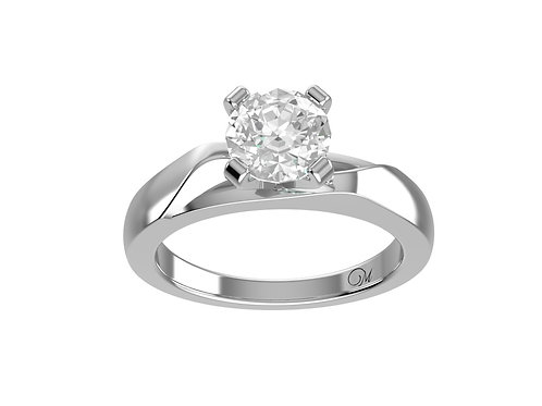 Modern Brilliant-Cut Diamond Ring - RP0500