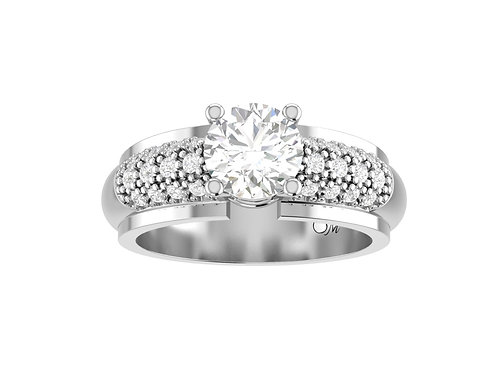 Paved Band Diamond Ring - RP1448
