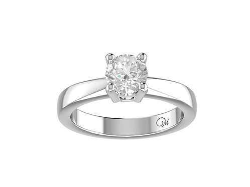 Round Brilliant-Cut Diamond Ring - RP0001.01