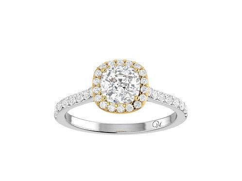 Halo Cushion-Cut Diamond Ring - RP2318