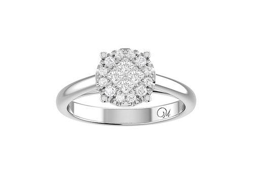 Petite Cluster Brilliant-Cut Diamond Ring - RP0844
