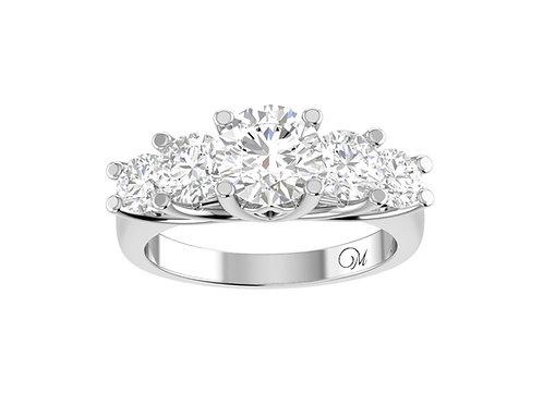 Luxury Five Stone Diamond Ring - RP1401