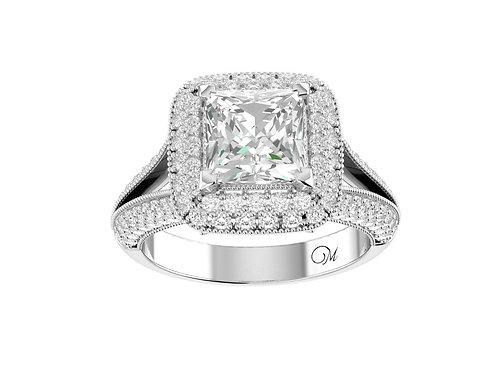 Fancy Princess-Cut Diamond Ring - RP0626