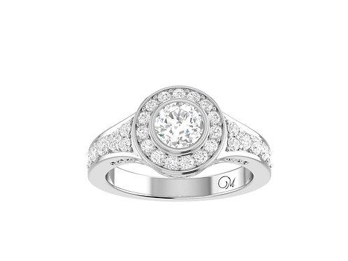 Halo Brilliant-Cut Diamond Ring - RP0081