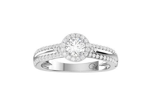 Petite Halo Brilliant-Cut Diamond Ring - RP1358