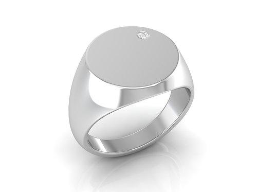 Men's Signet Diamond Ring - RP1148