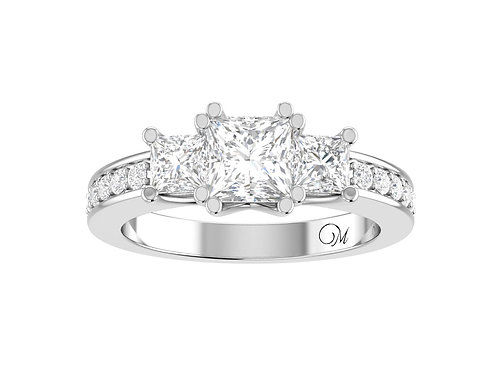 Fancy Princess-Cut Diamond Ring - RP1398