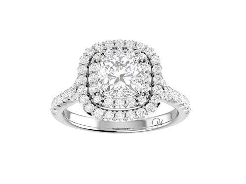 Double Halo Cushion-Cut Diamond Ring - RP0839
