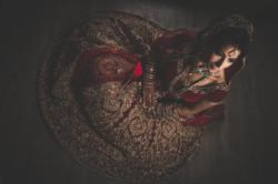 Asian bride wedding dress