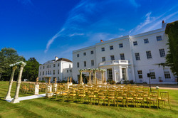 Lovely outdoor wedding venue