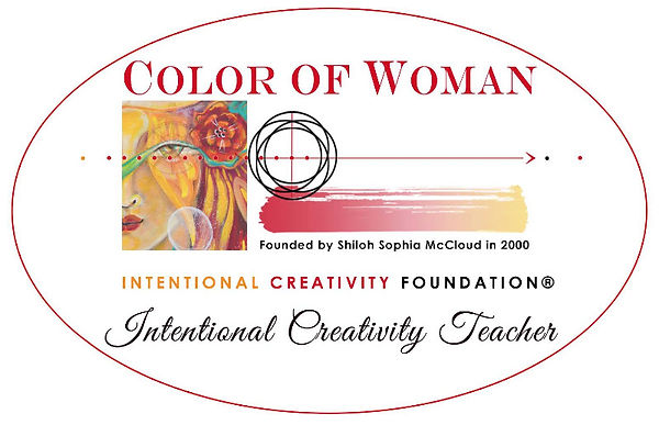 Intentional Creativity teacher logo oval