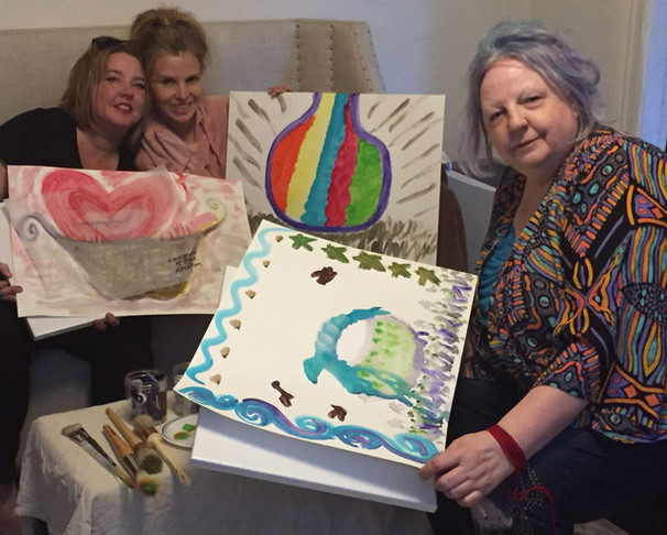 Beth, Sam & Patti with their Medicine Baskets