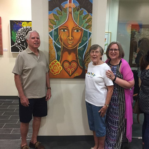 With Dad & Mom and Taliswoman painting