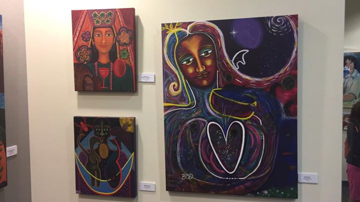 A Selection of my art on display