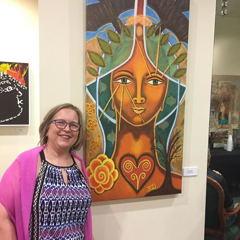 Me with my Taliswoman painting