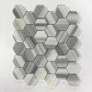 Zebra Marble Hexagon Polished