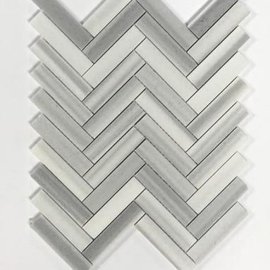 Zebra Marble Herringbone Polished