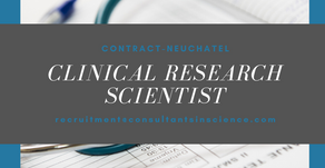 Clinical Research Scientist - contractor Switzerland