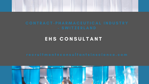 EHS Consultant - contract 18mths, Switzerland