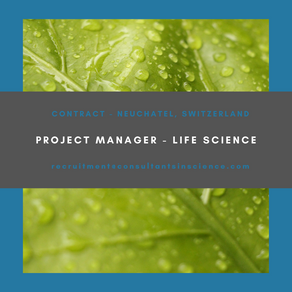 Project Manager - Contract - Neuchatel