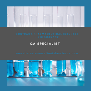 QA specialist - 4 month Contract - Switzerland
