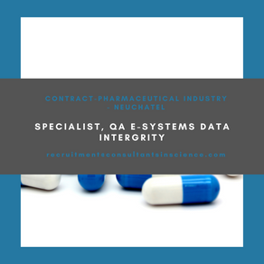 Specialist, QA eSystems Data Integrity - contract