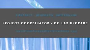 Project Coordinator - QC lab upgrade
