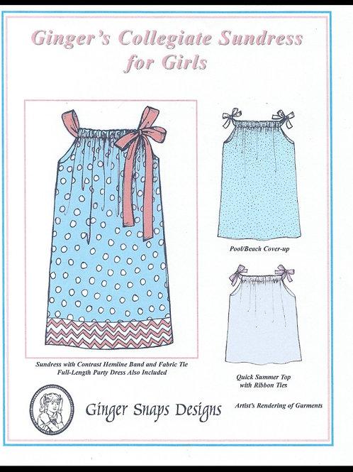 Ginger's Collegiate Sundress for Girls