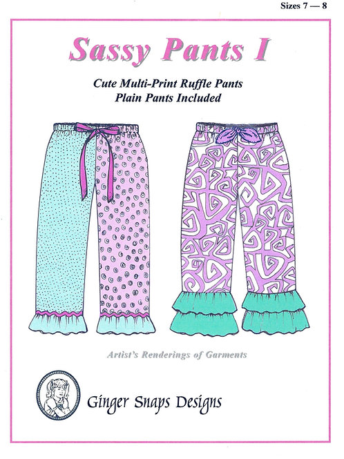 Sassy Pants I, Sizes 7 - 8