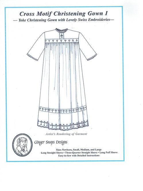 Cross Motif Christening Gown