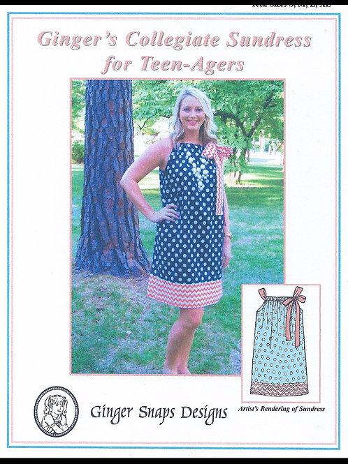 Ginger's Collegiate Sundress for Teen-Agers