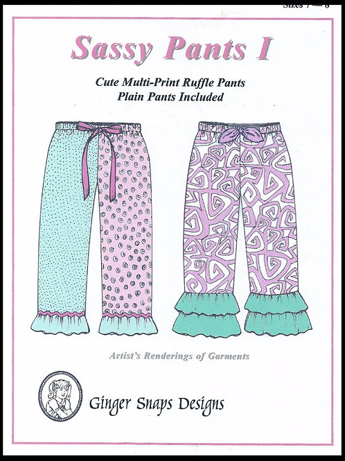 Sassy Pants I, Sizes 4 -6