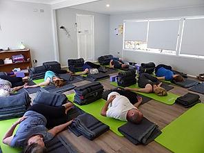 Relaxing Svaroopa® Yoga class