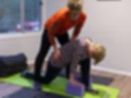 Yoga pose alignment